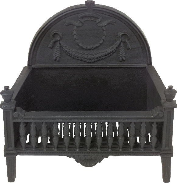 Black Cast Iron Basket Grate With Fireback Hamiltons Fireplace